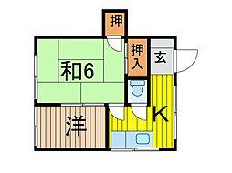 コーポ小野塚[2階]の間取り