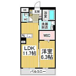 (仮)広丘高出ブレインマンション[1階]の間取り