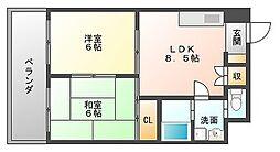 パレシャルム薬院[3階]の間取り