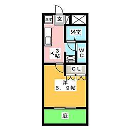 ラ メゾン ド ショコラ[1階]の間取り