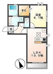 (仮)D-room荒子町[3階]の間取り