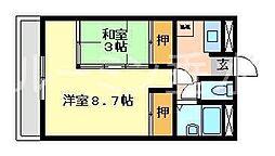 タウンハイツうれし野[5階]の間取り