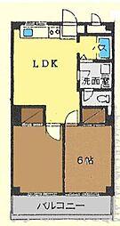 神奈川県茅ヶ崎市共恵の賃貸マンションの間取り