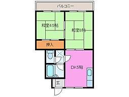 三重県津市久居新町の賃貸マンションの間取り