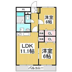 井下マンション[1階]の間取り