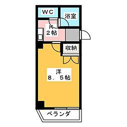 WING CKビル[5階]の間取り