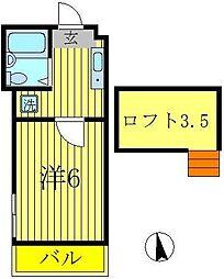 ジュネパレス松戸第154[1階]の間取り