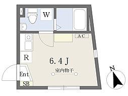 東京メトロ千代田線 北千住駅 徒歩5分の賃貸マンション 1階ワンルームの間取り