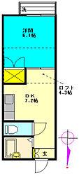 レオパレス松原団地第11[203号室]の間取り