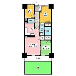 メイツ犬山レジデンス[1階]の間取り