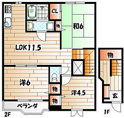 メゾンボーC[2階]の間取り