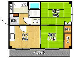 パルコート[2階]の間取り