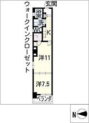 SH SQUARE Kanayama[5階]の間取り