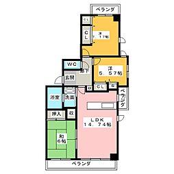 サンマンションアーツ山の手五番館[8階]の間取り