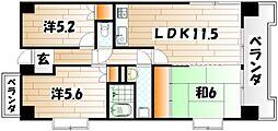 パークサイド萩原[3階]の間取り