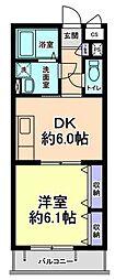 メゾンシマ[2階]の間取り