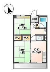 愛知県名古屋市北区会所町の賃貸マンションの間取り