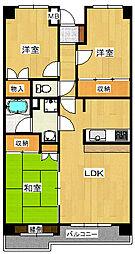 カーサ・フィヨーレ2[1階]の間取り