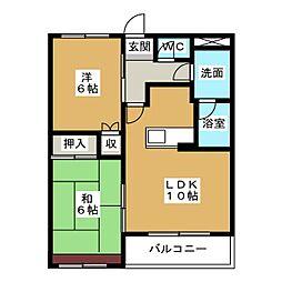 愛知県日進市香久山3丁目の賃貸マンションの間取り