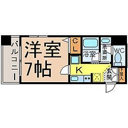 愛知県名古屋市中村区鳥居通2丁目の賃貸マンションの間取り