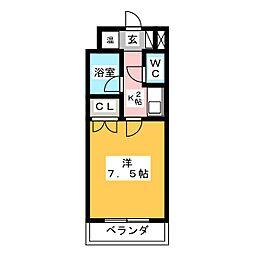 キャンパスシティ太宰府[2階]の間取り