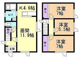 丹羽ハウスII 1階3LDKの間取り