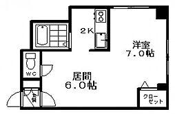 N405ビル[201号室]の間取り