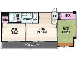 NTMマンション[202号室]の間取り