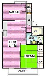 広島県広島市安佐南区高取北1丁目の賃貸アパートの間取り