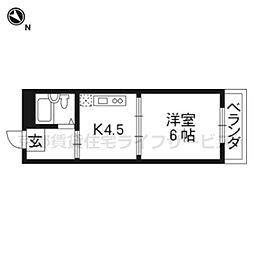 ハイム五条[1-B号室]の間取り