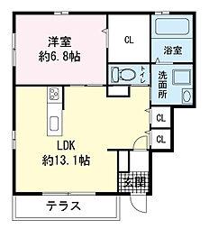 レガート新宿[0101号室]の間取り