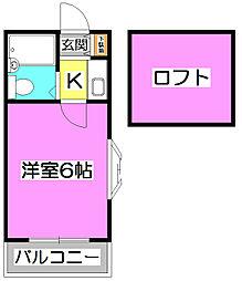 LH柳瀬川[2階]の間取り