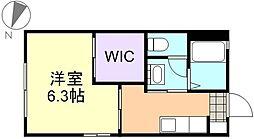 アンシャンテ新田B棟[1階]の間取り