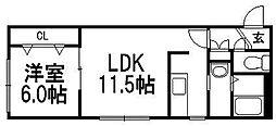 北海道札幌市豊平区平岸一条9丁目の賃貸マンションの間取り
