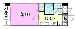 KWレジデンス東石井[407 号室号室]の間取り
