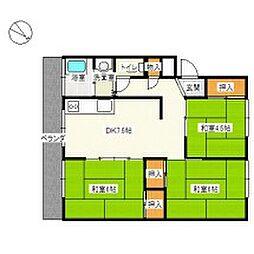 浅田マンション[3階]の間取り