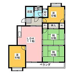 メゾンドブランシュ[3階]の間取り