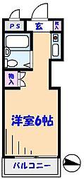 TOP原木中山第3[402号室]の間取り