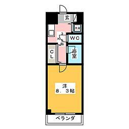 ADVANCITY OKAYAMA STATION[7階]の間取り