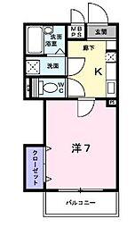 東京都江戸川区平井1丁目の賃貸マンションの間取り