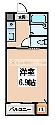 ミドウスジ堺Ⅱ[2階]の間取り