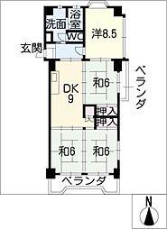 ハイタウンみずほIII[5階]の間取り