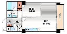 ハイム船場[7階]の間取り