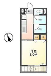サンノ−ブルA棟[2階]の間取り