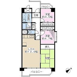 ドミール有住[6階]の間取り