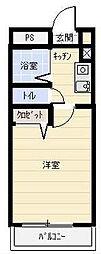 サンハイツ湘南[205号室]の間取り