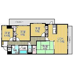 ソルプラーサ堺[5階]の間取り