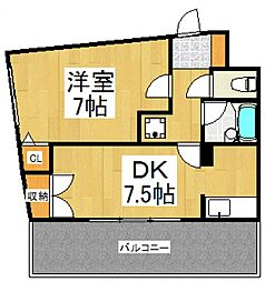 フルール21[4階]の間取り
