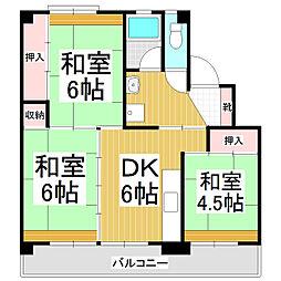 ビレッジハウス松尾1号棟[1階]の間取り