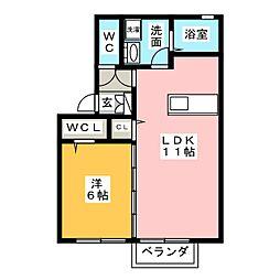 セジュール東郷[2階]の間取り